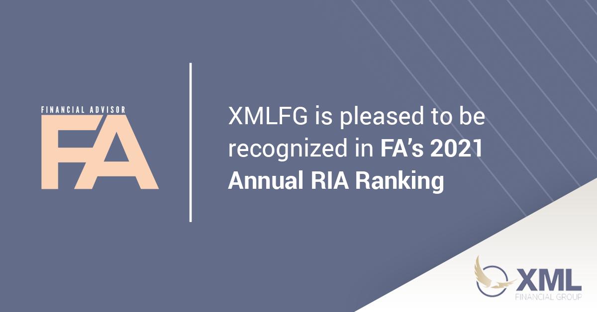 XML Included in the 2021 FA Magazine Ranking